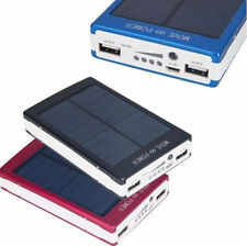 Dual USB Portable Solar Battery Charger Power Bank 50000mAh For iPhones, Samsung