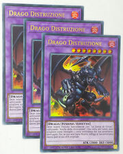 Set 3x  DRAGO DISTRUZIONE  LC06-IT003 Ultra Rara in Italiano YUGIOH