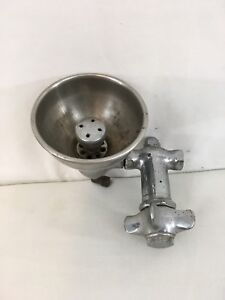 Vtg Taylor Stainless Steel Knob Handle Emergency Eye Wash Water Fountain