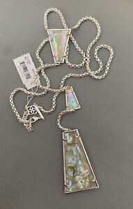 NWT Kendra Scott Collins Y Necklace White Abalone $138.00