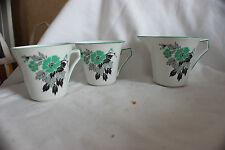 2 Palissy Tea Cups 1 Milk Creamer Jug