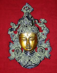 Brass Queen Face Shape Wall Hanging Welcome Decor Lady Women Girl Welcome RD35