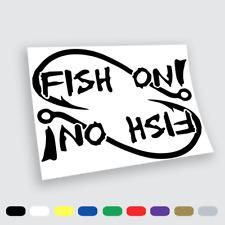 Adesivi in vinile Wall Stickers Prespaziati Pesca Fish on Auto Notebook moto
