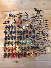 Halo Mega Bloks Construx 60+ figures bundle Job Lot Weapons spartan forge