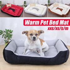 Pet Dog Cat Bed Puppy Cushion House Warm Sofa Mat Pad Blanket Washable w/ Bone