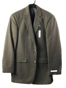 Pronto Uomo Blazer Sport Coat Jacket Mens 38L Brown Houndstooth 2 Button New