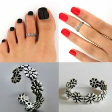 Silver Tone Women Open Retro Daisy Flower Midi Knuckle Finger Ring Toe Ring P26