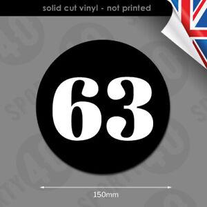 2x 150mm Magnel Number Roundel Vinyl Decals Stickers Scooter Vespa 2602-0219
