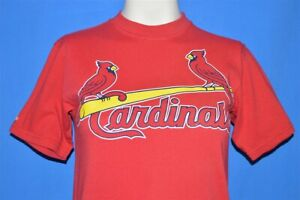 vintage 90s ST LOUIS CARDINALS MAJESTIC LOGO t-shirt BASEBALL YOUTH MEDIUM YM