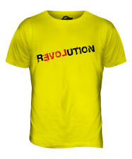 LOVE REVOLUTION MENS PRINTED FASHION T-SHIRT PEACE HIPSTER SWAG ROLLED SLEEVES