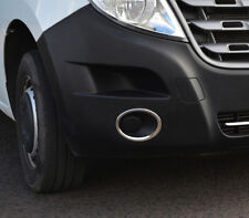 Chrome Fog Light Lamp Trim Covers Accents Set To Fit Renault Master (2010+)