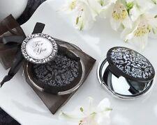 Black Damask Mirror Bridal Shower Favor Wedding Bridesmaid Gift Q31407