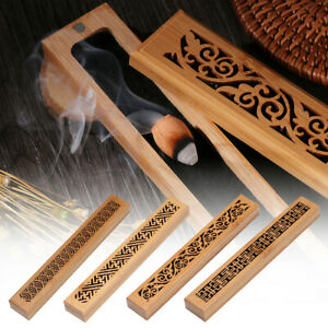 Retro Wood&Bamboo Incense Burner Inserted Ash Catcher Joss-stick Censer Holder~~