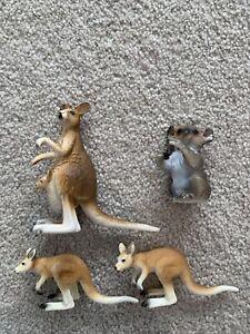 SCHLEICH Kangaroo X 3 And 1 X Koala