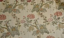 Vintage Indienne Tree of Life Floral Brocade Jacquard Fabric #1 ~ Rose Green