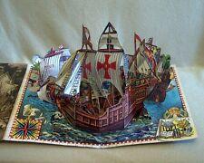"Kubasta "" Christoph Columbus Santa Maria "" 3D Pop Up Buch Schiff Diorama"