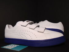 2015 PUMA COURT STAR STRAPS GV SPECIAL WHITE MB ROYAL BLUE GOLD 357723-06 10.5