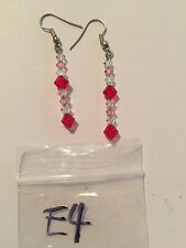 E4 Earrings with Swarovski crystal, glass and Czechoslovakian glass beads
