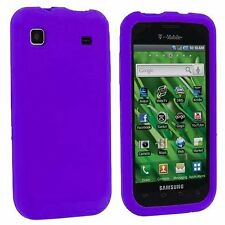 Silicone Skin Case for Samsung Galaxy S Vibrant T959 - Purple