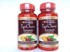 120 Capsules Puritan's Pride Tart Cherry Turmeric Complex Made In USA