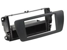 Radio Einbauset Auto 1 DIN Blende Adapter Seat Ibiza 6J 6JN ab 08 nitschwarz