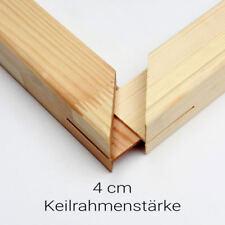 Keilrahmen 4cm Bausatz Keilrahmenleisten Set selbst Zusammenbau ohne Leinwand