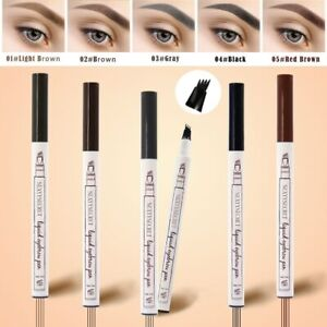 4 Color Eyebrow Pencil Tint 4 Tip Brow Tattoo Pen Paint Makeup Eyebrows