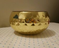 GENERAL ECLECTIC BRASS DIAMOND BOWL