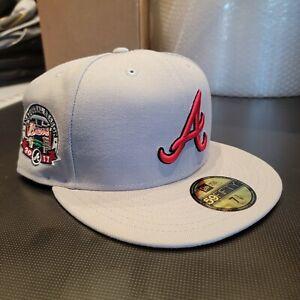 ExclusiveFitteds Atlanta Braves 2017 Inaugural Season Gray New Era Size 7 3/8