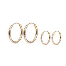 "9ct 9K Yellow ""Gold Filled"" Men Girls Stunning Small Hoop Earrings . 20mm""Gift"""