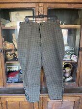 vintage mens 1940's Ll Bean hunting outdoor wool plaid pants