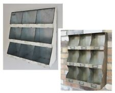 Industrial Pigeon Hole Wall Unit Metal Storage Shelf Cubicles Rustic Cabinet NEW
