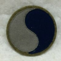 """Military Army 29th Infantry Division Patch Felt Wool Variant app 2 1/2"""" dia 29"""