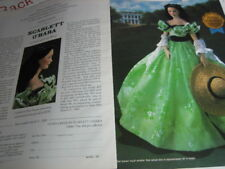 Vivien Leigh SCARLETT O'Hara Doll AD Franklin Heirloom ADVERTISMENT ONLY
