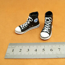 X12 1/6 HOT ZCWO Black Female Shoes Sneaker (holes for ankle connectors) TOYS
