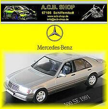 Mercedes Benz 500 se w140 - 1991-98 plata Silver metallic 1:43 MB