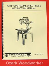 DELTA RAM-Type Radial Arm Drill Press Operating & Parts Manual 0219