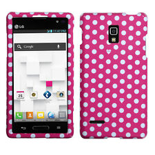 For T-Mobile LG Optimus L9 HARD Protector Case Snap On Phone Cover Pink Dots