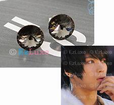 K-POP Tohoshinki TVXQ DBSK Jejung Hero Shadow Earrings black diamond grey round