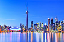 STUNNING Canvas Toronto Cityscape Skyline #458 Wall Hanging Picture Art A1