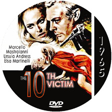 """The 10th Victim (1965) Sci-Fi and Horror NR CULT """"B"""" Movie DVD"""