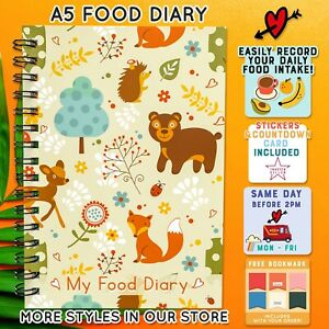 Food DIET Diary Slimming World Compatible 12WK LOG Weight Loss BookMark A5 C35