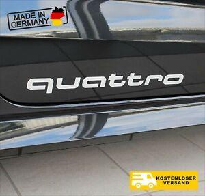 2x Audi Dekorfolie Quattro Schriftzug Florettsilber Quattro Aufkleber 3,5x35 cm