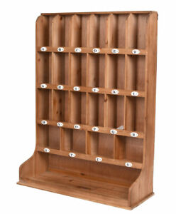 Retro Key Box Loft Seed Box Industrial Wooden Shelf Letter Tray Antique