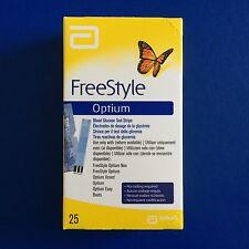 Abbott FreeStyle Optium Blood Glucose Test Strips - 1 x 25 - Brand New RRP £20