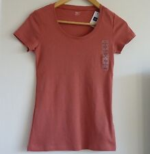 BNWT GAP Short-Sleeved Top in Beautiful Coral Colour, Size S, Brand New!