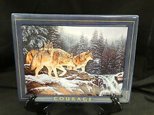 Nature's Harmony Wolf Plate Collection ~ Courage ~ Wild Wings ~ Mib & Coa