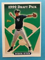 "1993 TOPPS BASEBALL CARD #98 DEREK JETER ROOKIE CARD ""HOF"" NEW YORK YANKEES"