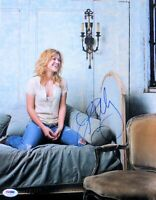 Kelly Clarkson Signed Autographed 11X14 Photo Sexy Laugh on Couch PSA P17495
