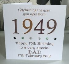70th 1949 Year You Were Born Birthday Card Personalised Dad Gramp Uncle Brother